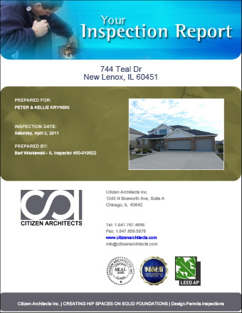 Sample Post 1990s Residential Inspection